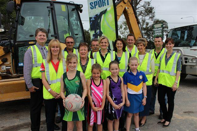 Back row: Division 4 Councillor Lance Hewlett, Cath Smeeton (Netball Association), Tony O'Regan (Pony Club), Gloria Dietz-Kiebron (Yurara Arts), Dennis O'Connell (Pony Club), Mayor Karen Williams, Dehlia Brown (Modern Country Music Association), Steve Gibson (Rugby League), Ros Putland (Bridge Club), Tim Goward (Council Sport and Recreation Officer) and Division 3 Councillor Kim-Maree Hardman.Front row: Chloe Turner (Lorikeets Netball Club), Tahlia Payne (Pink Magic), Tarryn Jaffrays (Thunderbolts) and Prinella Van Hasten (Raiders).